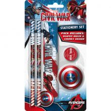 Kit cartoleria Captain America Civil War Party