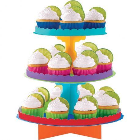Alzatina cupcakes Mix Colore 3 piani