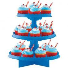 Alzatina cupcakes Blu a  3 piani