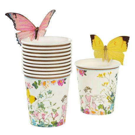 Bicchieri Festa Fate con Farfalle (12 pz)
