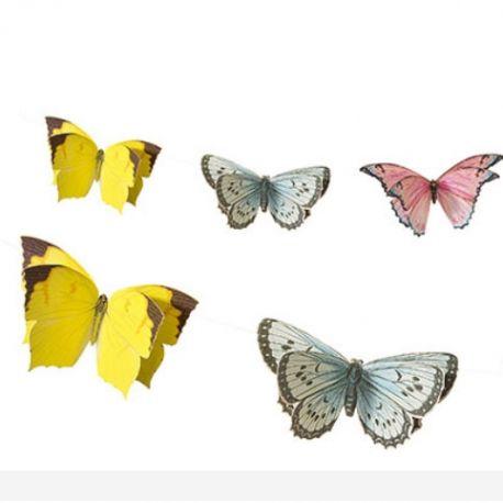 Ghirlanda di farfalle 3 m