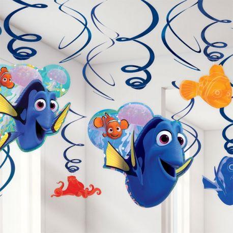 Decori a spirale Festa Dory e Nemo (6pz)