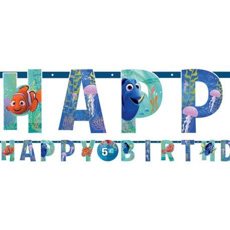 Festone Happy Birthday Alla ricerca di Dory 1.4m