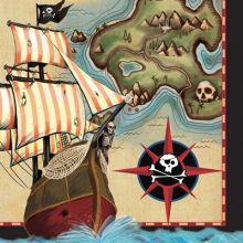 Tovaglioli Pirati Mappa del Tesoro (16 pz)