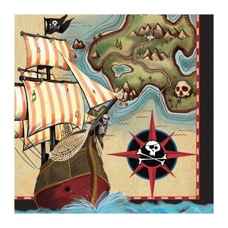 Tovagliolini Pirati Mappa del Tesoro