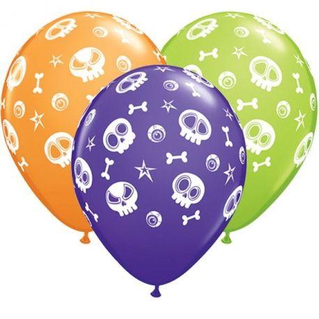 Palloncini Halloween mix colori  (6 pz)