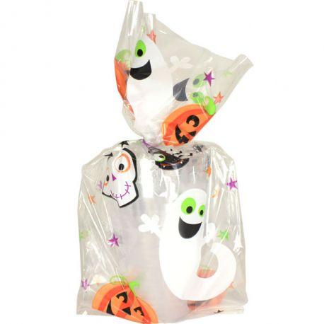 Saccheti  Halloween fantasmi e zucche
