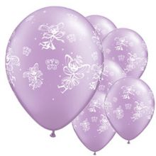 Palloncini fate color Rosa Lilla 6 pz