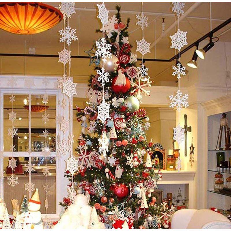 Decorazioni Natalizie Fiocchi Di Neve.Decorazione Pendente Fiocchi Di Neve Addobbi Natale