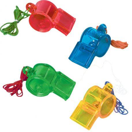 Gadget Bambino- Fischietti Colorati 12 pz