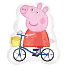 Palloncino Peppa Pig in Bicicletta