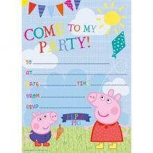 Biglietti di invito Peppa Pig Inglese (20 pz)