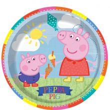 Festa Peppa Pig 8 Piatti  23 cm