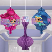 Decorazione Shimmer and Shine (3 pz)
