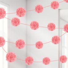 Ghirlanda pom poms rosa