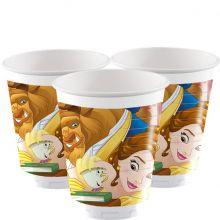 La Bella e la Bestia bicchieri di plastica (8 pz)
