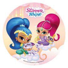 Cialda Shimmer and Shine per Torta