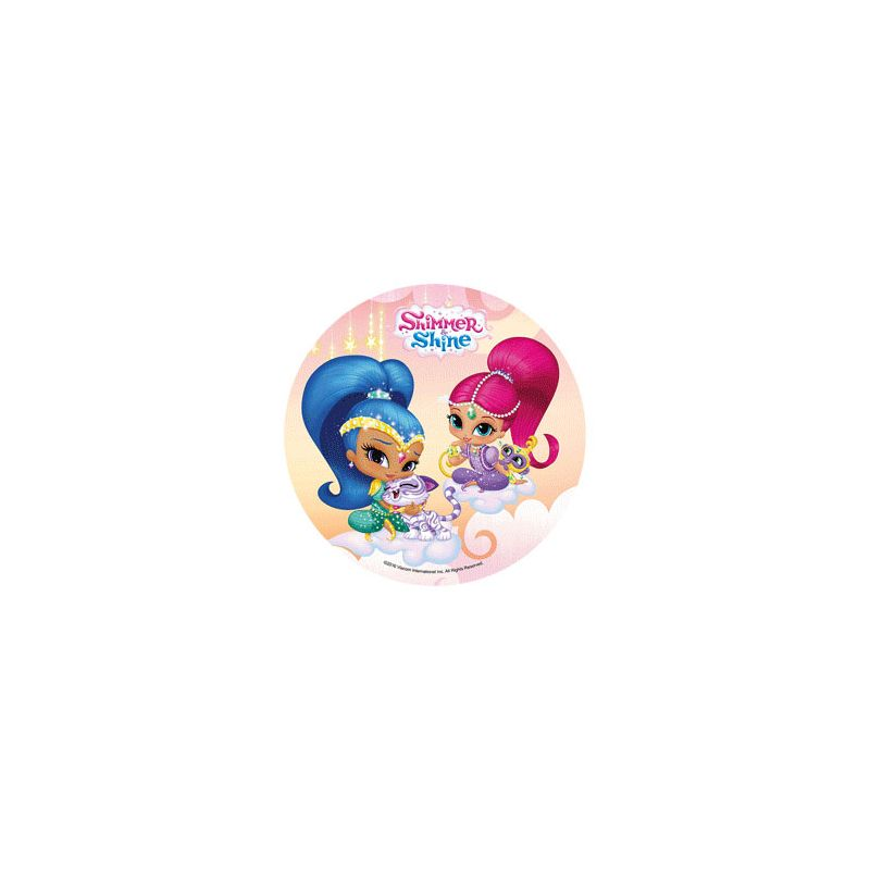 Cialda shimmer and shine per torta compleanno