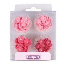 Mini Fiori di zucchero rosa fucsia