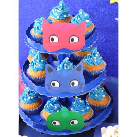 Alzatina Cupcakes a tema Pj Masks