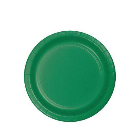 Piattini di carta verdi da 17 cm (8pz)
