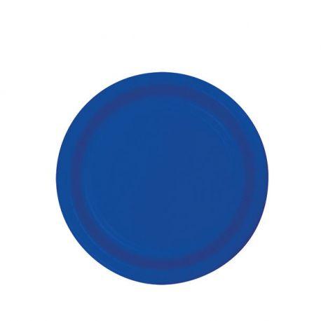 Piattini di carta Blu da 17 cm (8pz)
