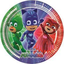 Piatti Super Pigiamini (8 pz) Festa PJ Masks