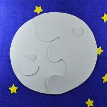 Pannello gomma bianca scintillante Luna