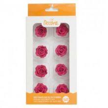 Rose Rosse in Zucchero misure 3 cm ( 8 pz)