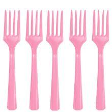 Forchette Plastica Rosa (24 pz)