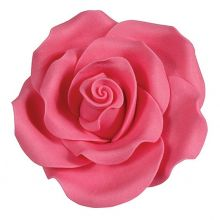 Rose in zucchero color Rosa Intenso 6 cm ( 2 pz)