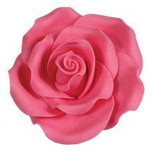 Rose in zucchero color Rosa Intenso 6 cm ( 2 pz)