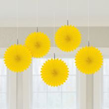 Decorazioni Carta Color Giallo 15 cm (5 pz)
