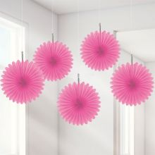 Decorazioni Carta Color Rosa 15 cm (5 pz)