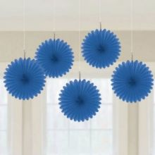 Decorazioni Carta Color Blu 15 cm (5 pz)