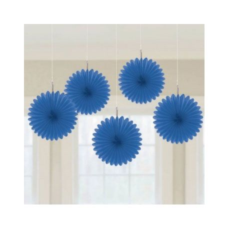 Decorazioni Carta Color Blu15 cm (5 pz)