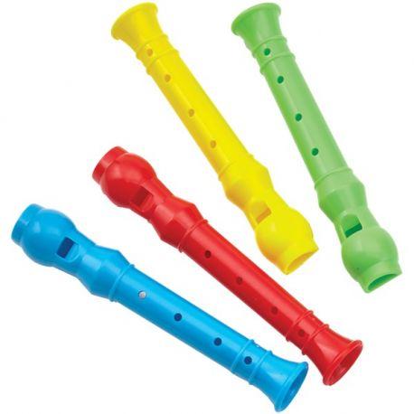 Regalini Festa Bambini Flauti Confezione Da 4 Mini Flauti Da 10 Cm