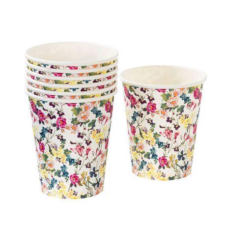 Bicchieri di carta a Tema Floreale (12 pz)