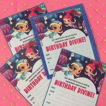 Shimmer e Shine Biglietti Invito Fai da Te - Stampa