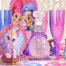 Shimmer e Shine Bottiglia in vetro lavorato
