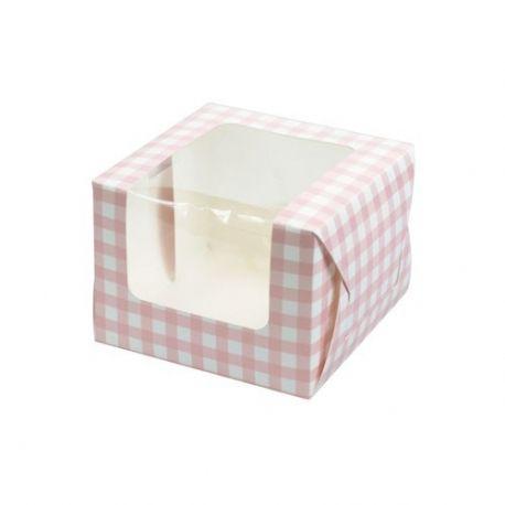 Box Cupcake/Muffin Rosa