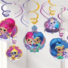 Decorazione Shimmer and Shine 6 pz