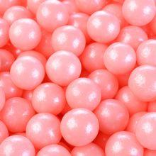 Perle perlescenti rosa in zucchero