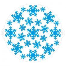 Stencil Fiocchi di Neve 25 cm
