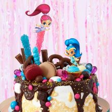 Cake Topper Shimmer e Shine  Fai da Te