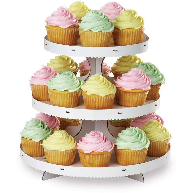 Alzatina cupcakes 3 piani color Bianco