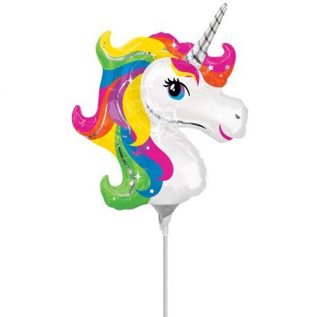 Palloncino Unicorno Arcobaleno 38 cm