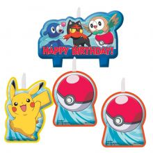 Candeline Pokemon Set da 4 pz