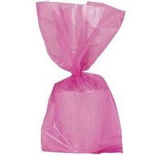 Sacchetti Party in Cellophane rosa 24 cm - 25 pz