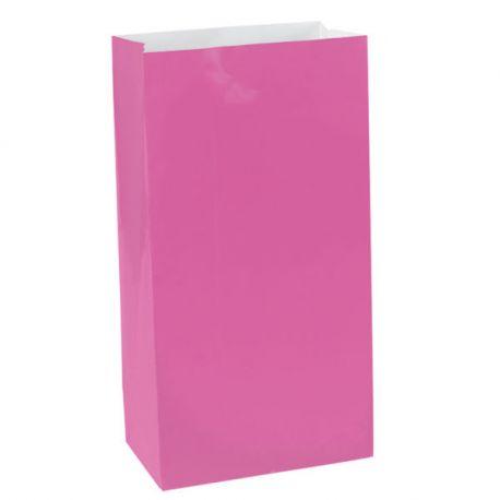 Sacchetti di carta Rosa 12 pz